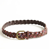 Multicolor Visions Braided Belt - $18.00 : ThreadSence.com, Your Spot For Indie Clothing  Indie Urban Culture