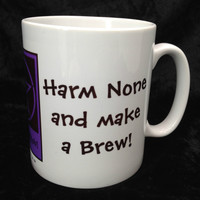 Harm None and Make a Brew! Funny Pagan Wiccan Mugs designed by Cheeky Witch