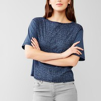 Gap Women Mix Print Crop Tee