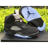 Air Jordan 5 OG Black Metallic Basketball Shoes 40-47