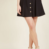 You Sassy Thing Skater Skirt in Black