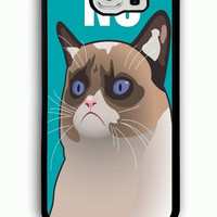 Samsung Galaxy S6 Case - Hard (PC) Cover with Cactus the Cranky Cat Plastic case Design