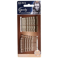 Goody Colour Collection Metallic Finish Bobby Pin, Blonde, 50 Count