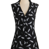 Effie's Heart Mid-length Sleeveless Afternoon Wander Top in Feathers