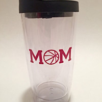 Car Window Decal - Vinyl Decals - Basketball Mom - Car Decal - Sports Decals - Over 20 Colors Available - Sports Mom - Basketball Decal