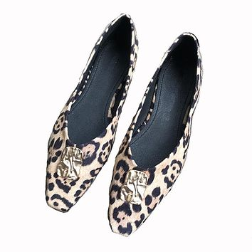 Woman Genuine Leather Flat Shoes  Casual Work Ballet Women Flats shoes