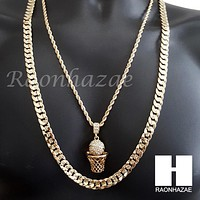 """BASKETBALL ROPE CHAIN DIAMOND CUT 30"""" CUBAN LINK CHAIN NECKLACE S60"""