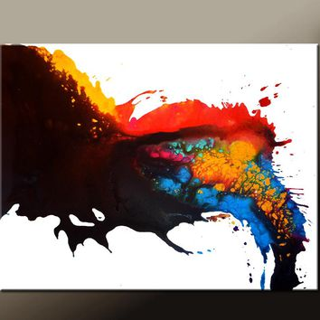 Abstract Canvas Art Contemporary Painting by Destiny Womack - dWo - Beginnings