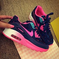 Nike Air Max 90 Pink Purple Gradient Gradient Rose Running Shoes Sport Shoes