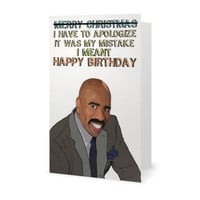 Steve Harvey Funny Birthday Card (Meme, Humor, Silly, Boyfriend Girlfriend Husband)  (100% Recycled)