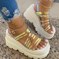 New style sandals women's thick bottom summer hot style women's shoes