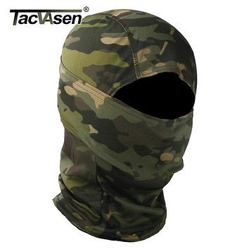 TACVASEN Tactical Camouflage Balaclava Full Face Mask Wargame Hunt Shoot Army Bike Military Helmet Liner Combat Airsoft Gears