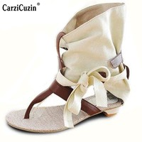 Size 34-43 Women Bohemia Girl Quality Fashion Flat Sandals Dress Casual Buckle Lady Chic Shoes Sexy Brand Qaulity Sandals