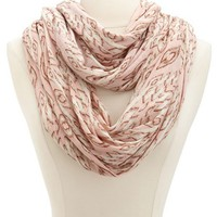 Ikat Jersey Infinity Scarf: Charlotte Russe