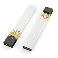 Descending Scattered Golden Micro Dots - Premium Decal Protective Skin-Wrap Sticker compatible with the Juul Labs vaping device