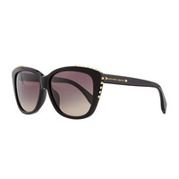 Alexander McQueen Studded Squared Cat-Eye Sunglasses, Black