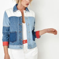 PacSun Colorblock Denim Jacket at PacSun.com