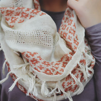 Pop of Persimmon Infinity Scarf