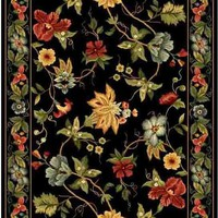 Chelsea Country & Floral Indoor Area Rug Black