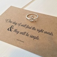 Literary Quote Ampersand Ring