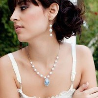 Pearls and Cameo Necklace