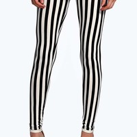 Hannah Stripe Print Jersey Leggings