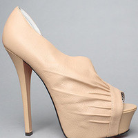 The Carrla Shoe in Nude Suede by Betsey Johnson   Karmaloop.com - Global Concrete Culture
