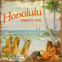 Personalized Honolulu Greets You Wood Sign