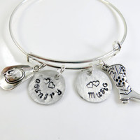 Alex and Ani style country music bracelet