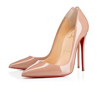 Christian Louboutin CL So Kate Nude Patent Leather 120mm Stiletto Heel Fw13 Online