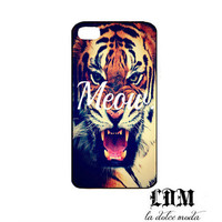 MEOW TIGER phone case iPhone 4 iPhone 4s iPhone 5 hard plastic case trending adorable