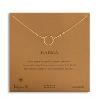 Dogeared - Original Karma Necklace in Gold Dipped (16in and 18in)