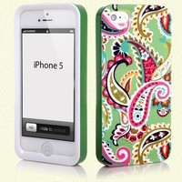 Fashionable 3 in 1 Hardshell Snap-on Case Cover For iphone 5 5G