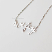 silver Wifey Necklace, Bride to Be Necklace, Fiance Necklace, Wifey Gift , Newlyweds, Necklace for Bridal Shower, Wifey Material