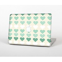 """The Scratched Vintage Green Hearts Skin for the Apple MacBook Air 13"""""""