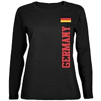 World Cup Germany Black Womens Long Sleeve T-Shirt