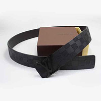 Louis Vuitton LV Woman Fashion Smooth Buckle Belt Leather Belt-85