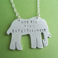 Not for your Entertainment Elephant pendant by julep115 on Etsy