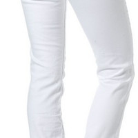 Silver Jeans White Suki Mid Baby Boot Cut Jean