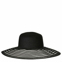 STRAW MESH BRIM FLOPPY HAT