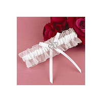 White with All My Heart Garter