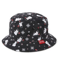 Riot Society Snowman Party Bucket Hat - Mens Backpack - Black - One