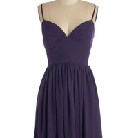 ModCloth Mid-length Spaghetti Straps A-line Looking Red Haute Dress in Violet
