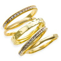 Women's Ariella Collection Slim Stackable Rings