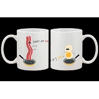 Bacon and Egg Couple Matching Mugs- His and Hers Matching Coffee Mug Cup