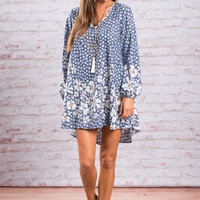 Perfectly Imperfect Pattern Dress, Serenity