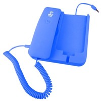 Pyle Home PIRTR60BL Handheld Phone and Desktop Dock for iPhone - Desktop Charger - Retail Packaging - Blue (Discontinued by Manufacturer)