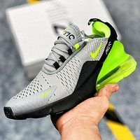 Bunchsun Nike Air Max 270 Fashion Men Casual Air Cushion Sport Running Shoes Sneakers Green&Green