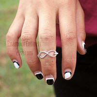 Silver (or Gold) Infinity Knuckle Ring