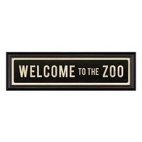 Spicher and Company 'Welcome to the Zoo' Vintage Look Street Sign Artwork